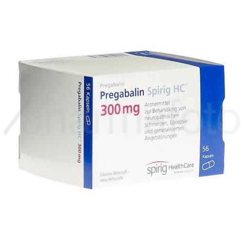 PREGABALINE Spirig HC caps 300 mg (nouv) 56 pce