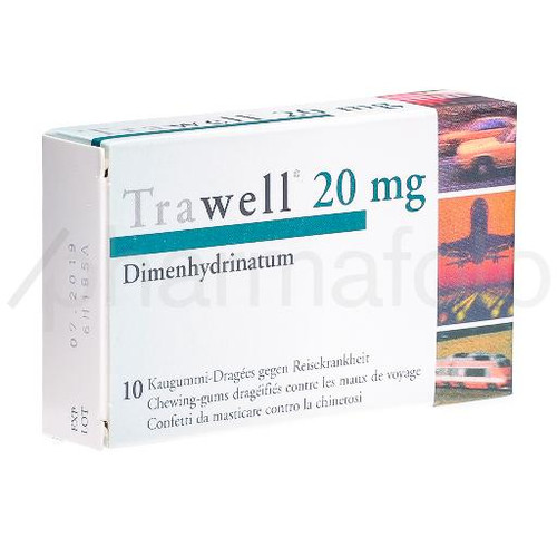 TRAWELL chewing gums dragées 20 mg 10 pce