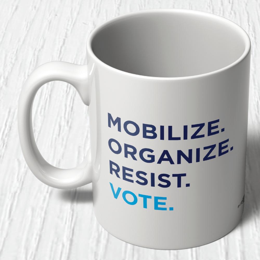 """Mobilize. Organize. Vote.""  (11oz. Coffee Mug)"