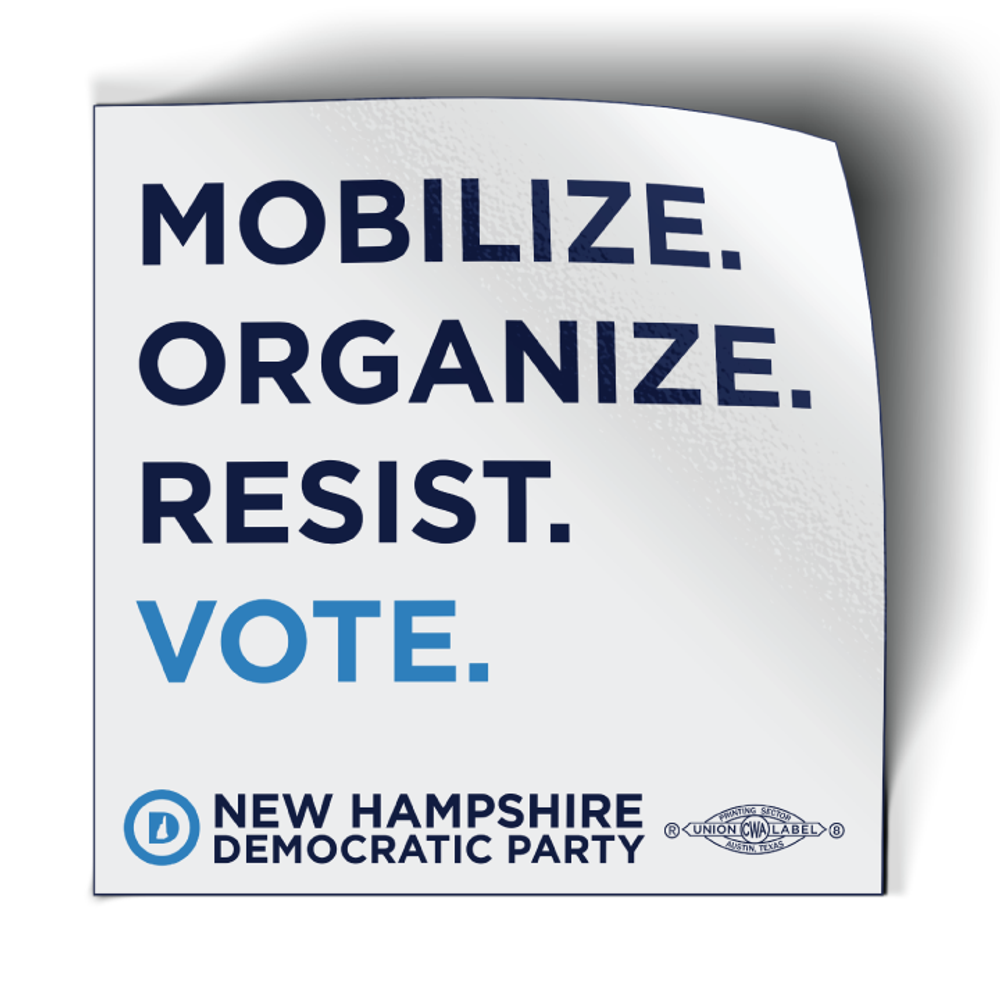 """Mobilize. Organize. Vote."" (4"" x 4"" Vinyl Sticker -- Pack of Two!)"