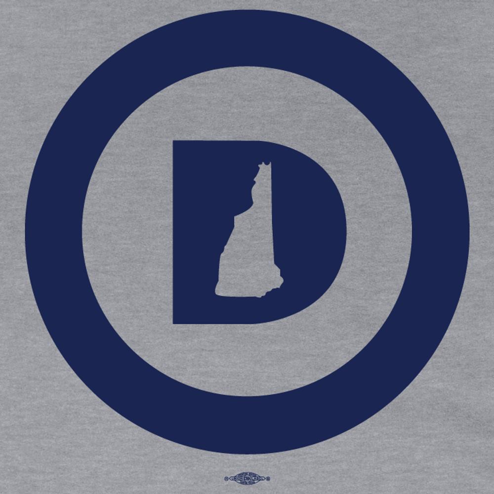 """Circle D Logo"" (Dark Ash Adult Hooded Pullover Fleece)"