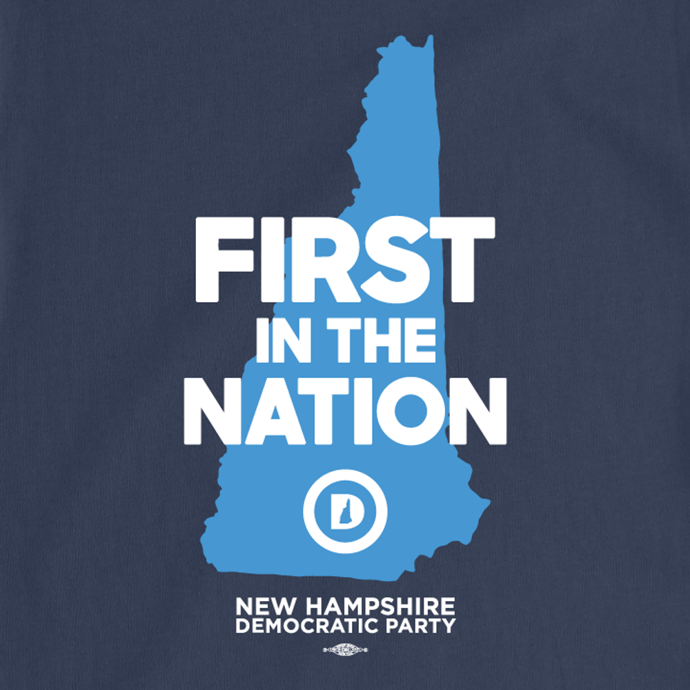 """""""First in the Nation Official"""" logo (Navy Tee)"""