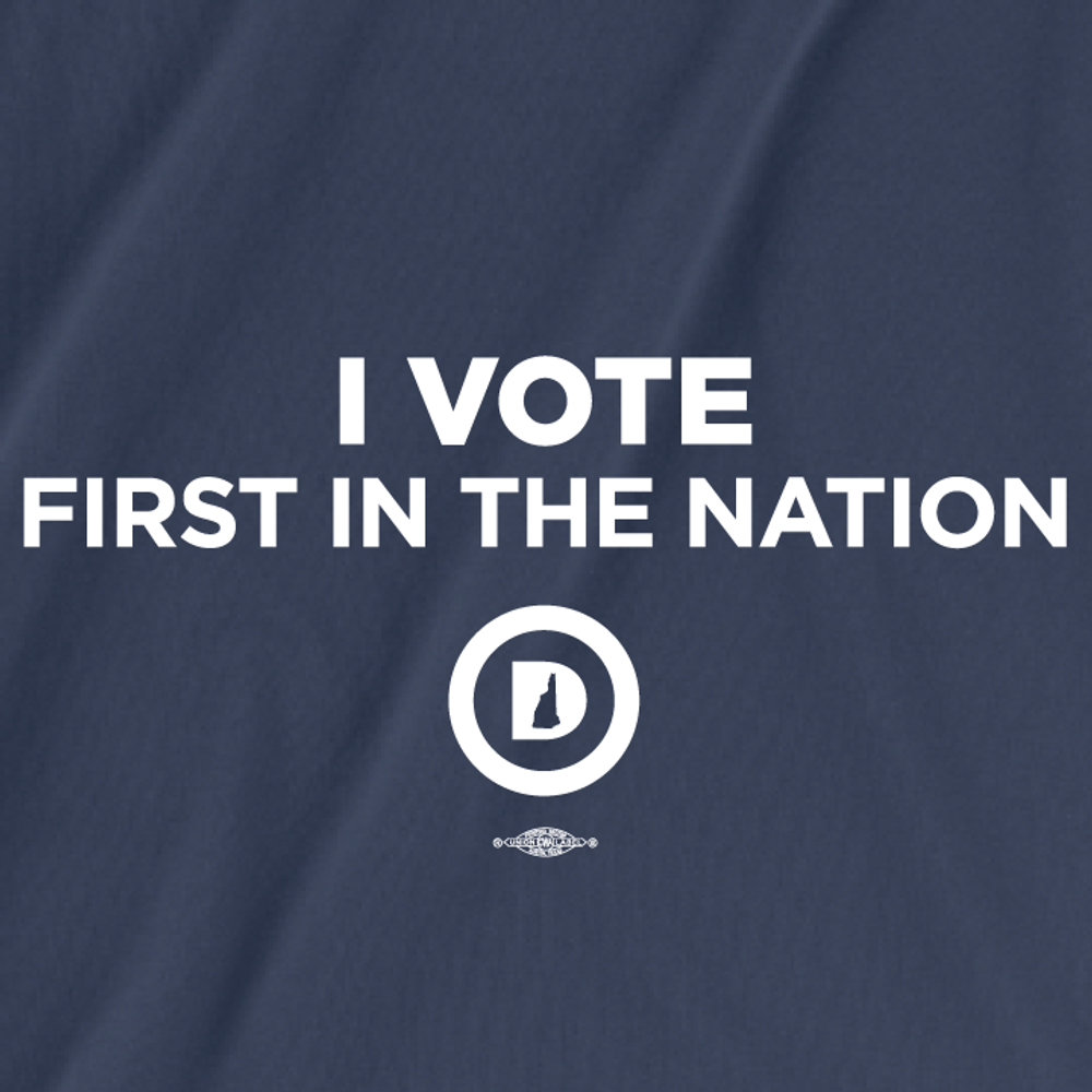 I Vote First In The Nation (Unisex Navy Tee)