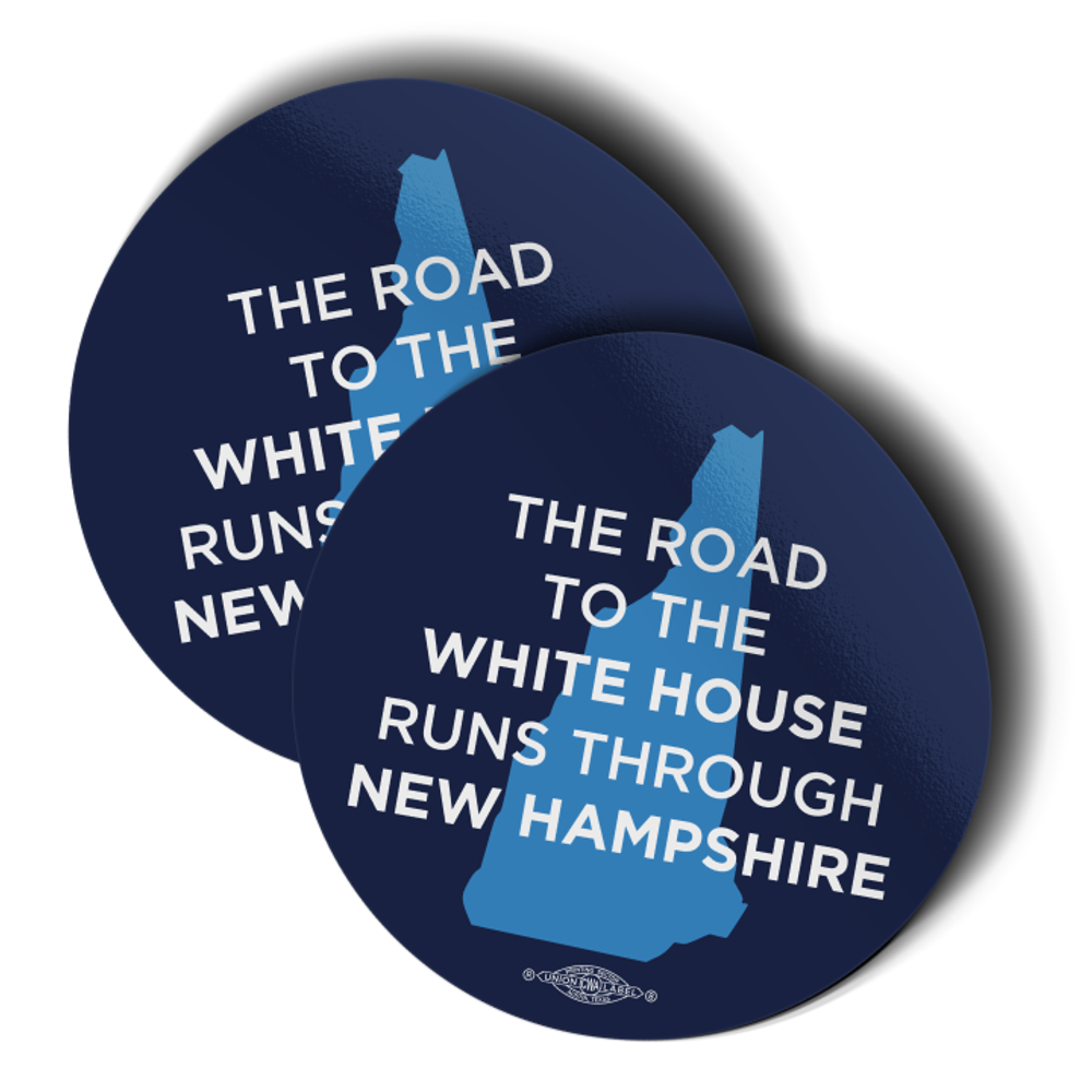 "The Road To The White House (3.5"" x 3.5"" Vinyl Sticker -- Pack of Two!)"