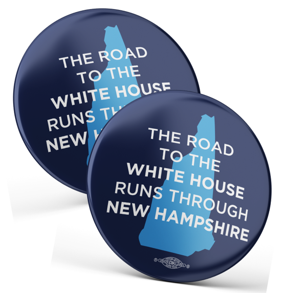 """The Road To The White House (2.25"""" Mylar Button -- Pack Of Two!)"""