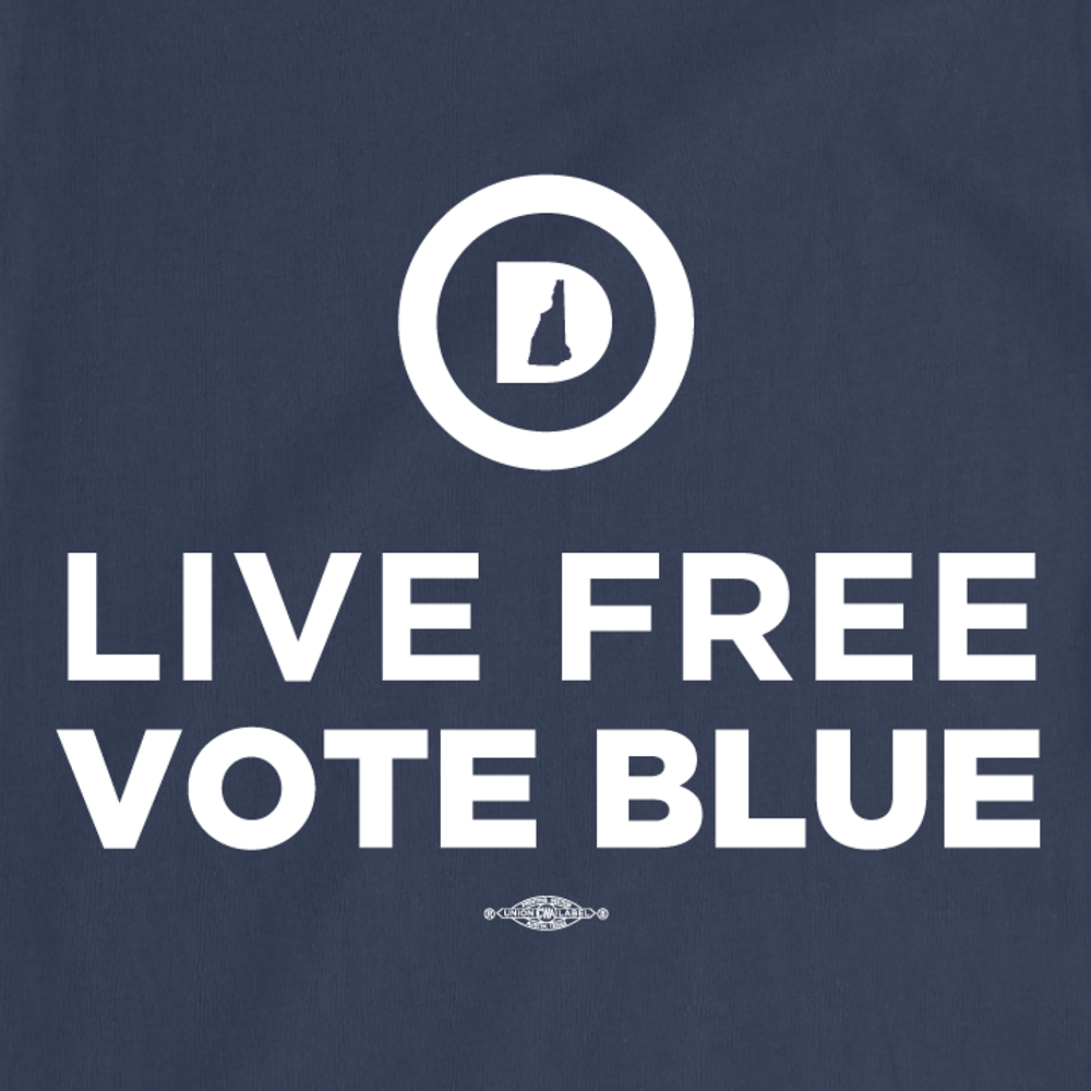 Live Free Vote Blue (Unisex Navy Tee)