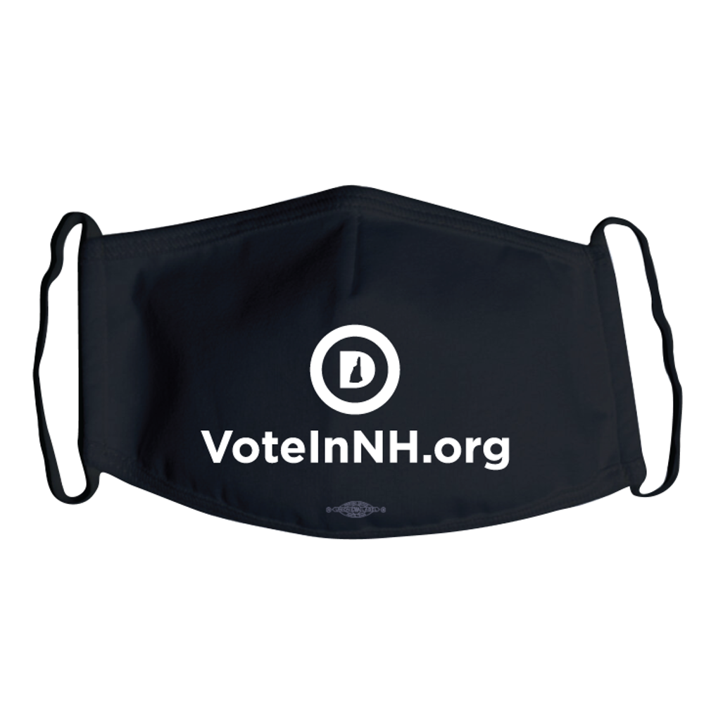 VoteInNH.org (Black Mask -- Pack of Two!)