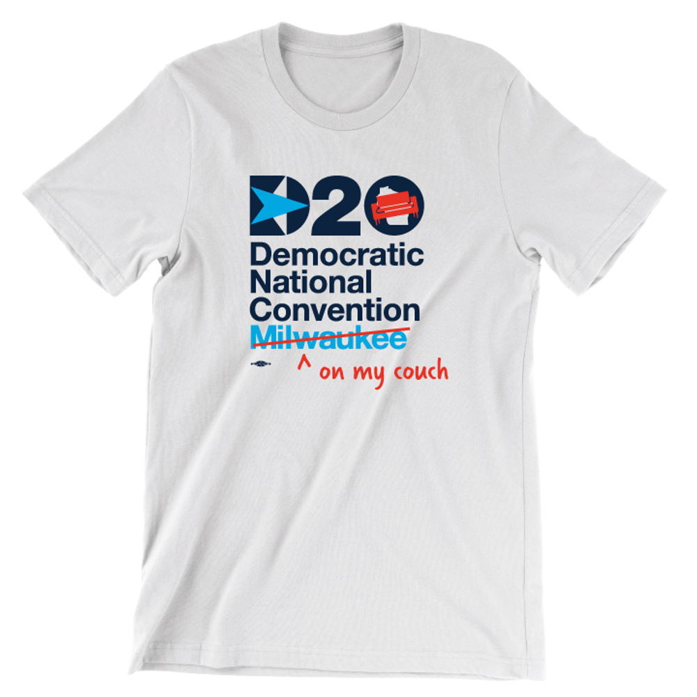 DNC - On My Couch (Unisex White Tee)