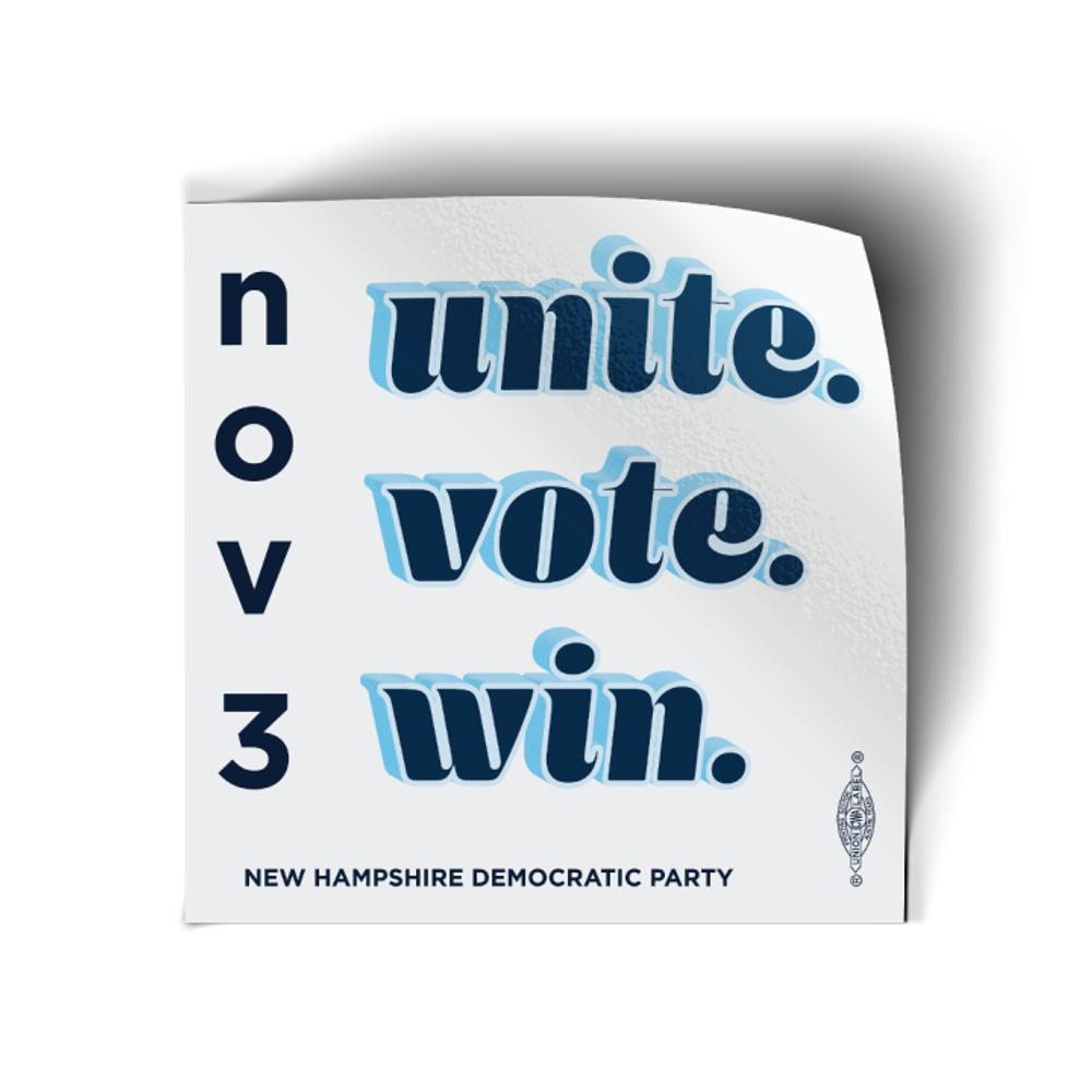 """Vote Biden 2020 (4"""" x 4"""" Vinyl Sticker -- Pack of Three!)"""