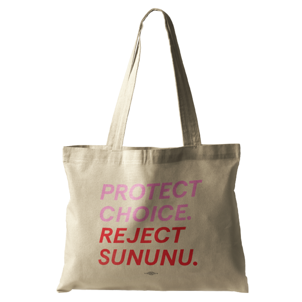 Protect Choice. Reject Sununu. (Natural Canvas Tote)