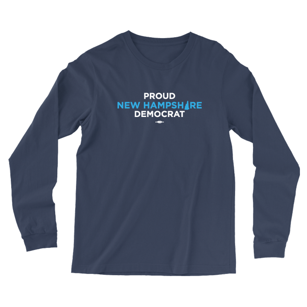 Proud NH Democrat (Navy Long-Sleeve Tee)