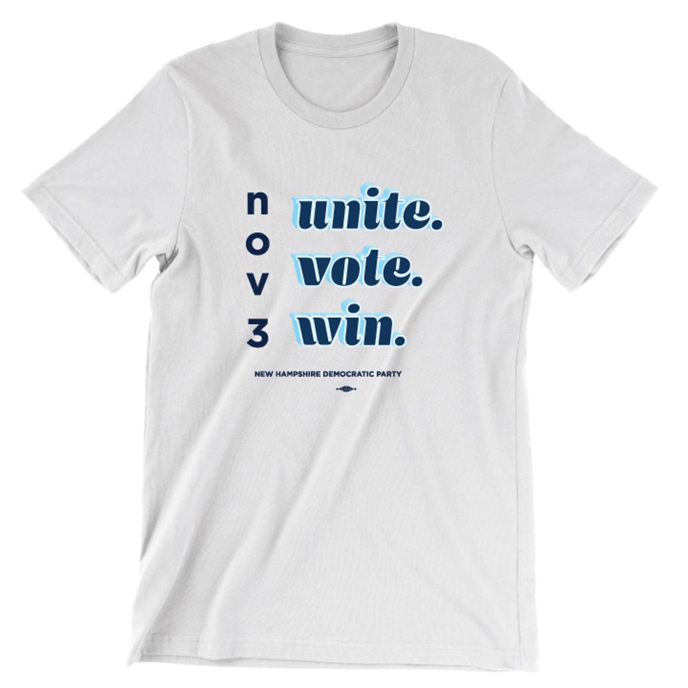 Unite Vote Win (Unisex White Tee)