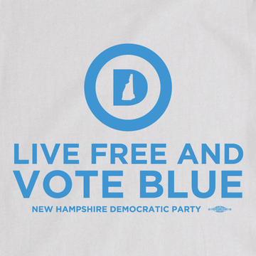 """Live Free And Vote Blue"" (White Tee)"