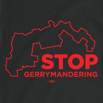 """""""Stop Gerrymandering"""" (Black Tee)"""