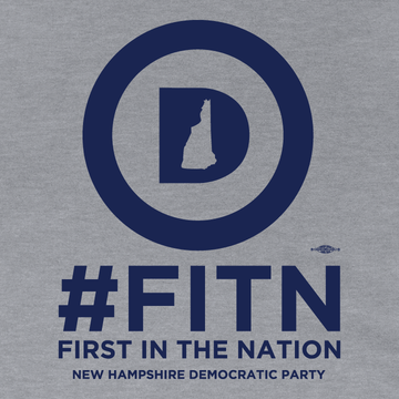 """First In The Nation""  (Dark Ash Adult Hooded Pullover Fleece)"
