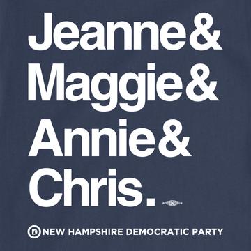 Jeanne & Maggie & Annie & Chris (Navy Tee)