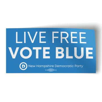 "Live Free Vote Blue (4"" x 2"" Vinyl Sticker -- Pack of Two!)"