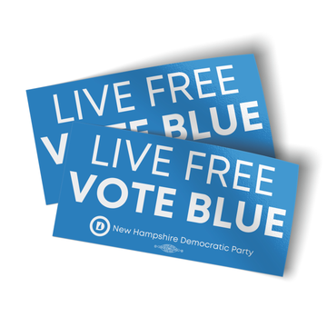 """Live Free Vote Blue (4"""" x 2"""" Vinyl Sticker -- Pack of Two!)"""