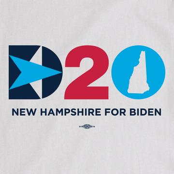 DNC - NH For Biden (Unisex White Tee)