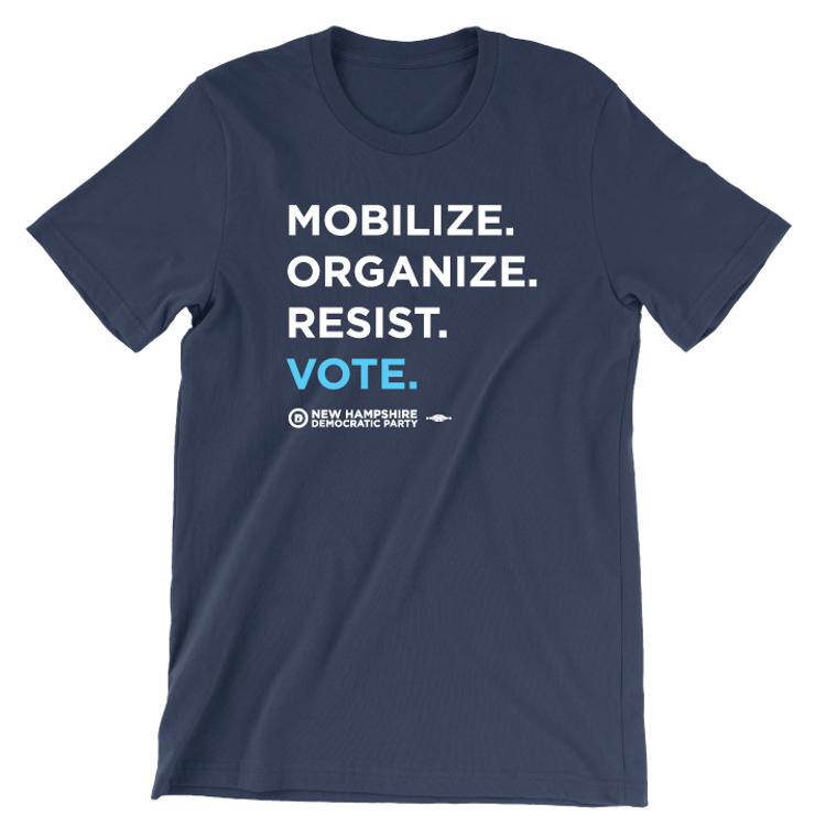 """Mobilize. Organize. Vote."" (Navy Tee)"