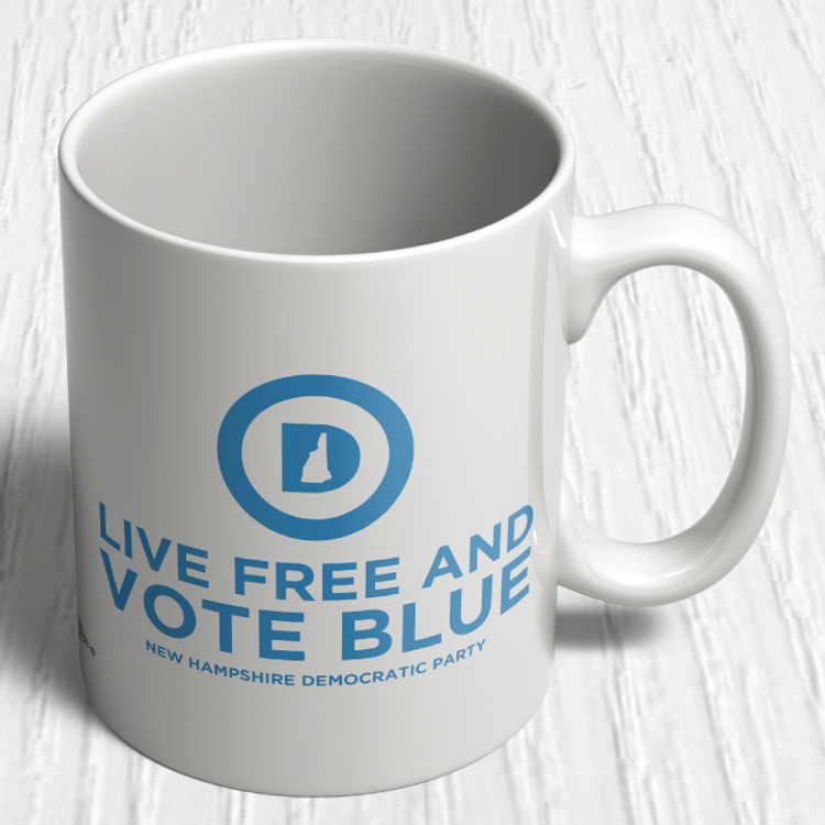 """Live Free And Vote Blue""  (11oz. Coffee Mug)"