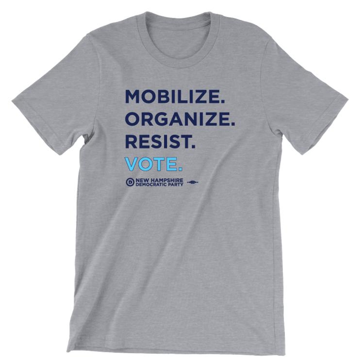 """Mobilize. Organize. Vote."" (Athletic Heather Tee)"