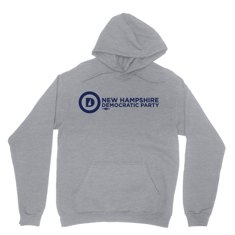 NHDP Official Logo (Dark Ash Adult Hooded Pullover Fleece)