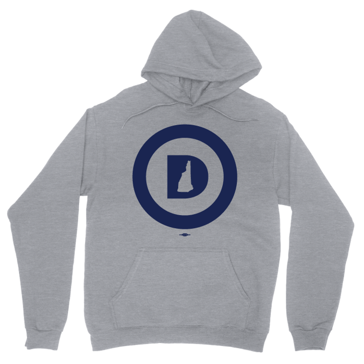 """Circle D Logo"" (Dark Ash Adult Hooded Pullover Fleece)"