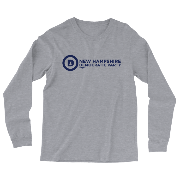 NHDP Official Logo (Athletic Heather Long-Sleeve Tee)