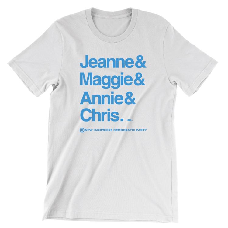 Jeanne & Maggie & Annie & Chris  (White Tee)