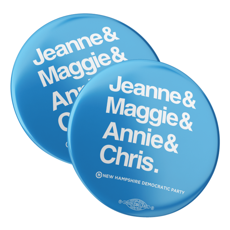 "Jeanne & Maggie & Annie & Chris (2.25"" Mylar Button -- Pack Of Two!)"