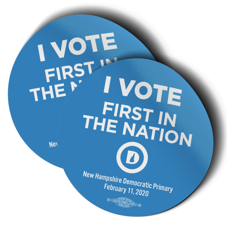 """I Vote First In The Nation (3.5"""" x 3.5"""" Vinyl Sticker -- Pack of Two!)"""