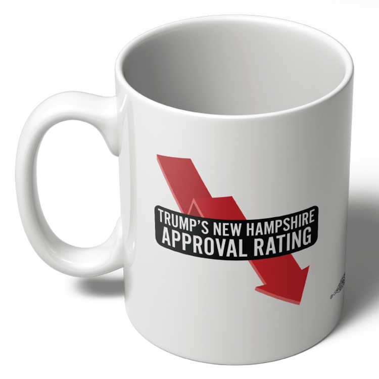 Trump's New Hampshire Approval Rating (11oz Ceramic Mug)