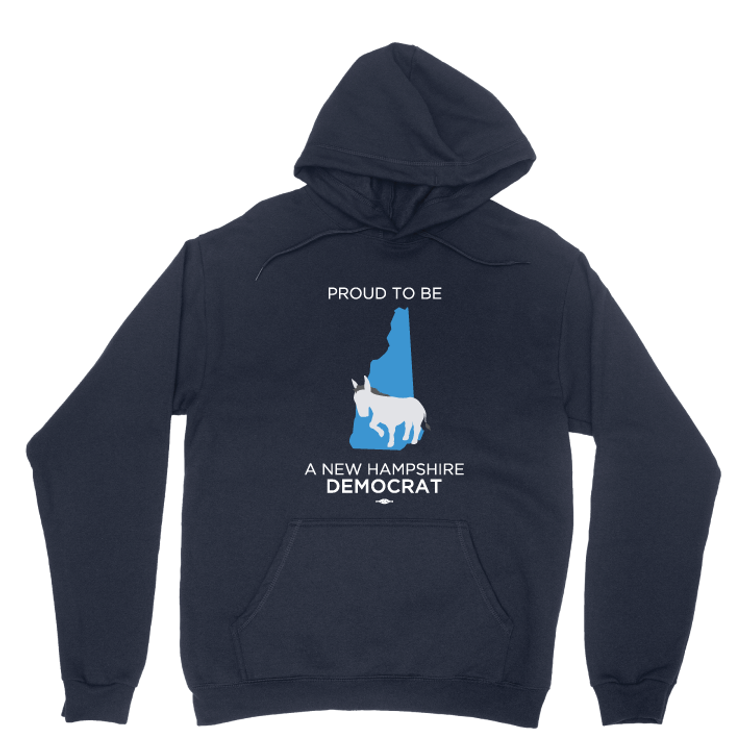 Proud To Be A New Hampshire Democrat (Navy Pullover Hoodie)