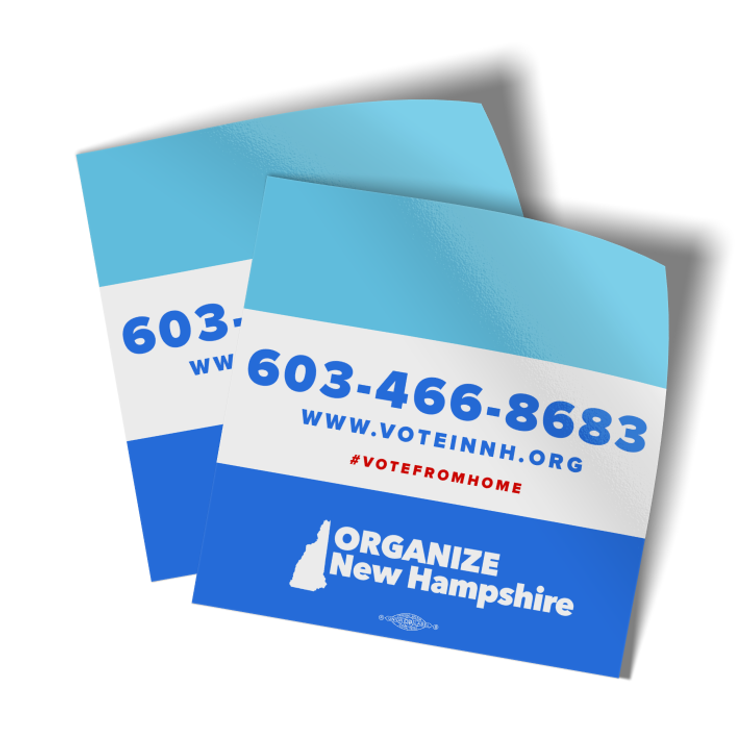 "Organize New Hampshire (3.6"" x 3.6"" Vinyl Sticker -- Pack of Two!)"