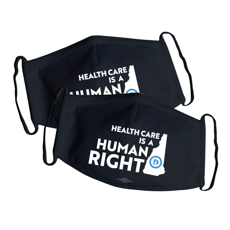 Healthcare Is A Human Right (Black Mask -- Pack of Two!)