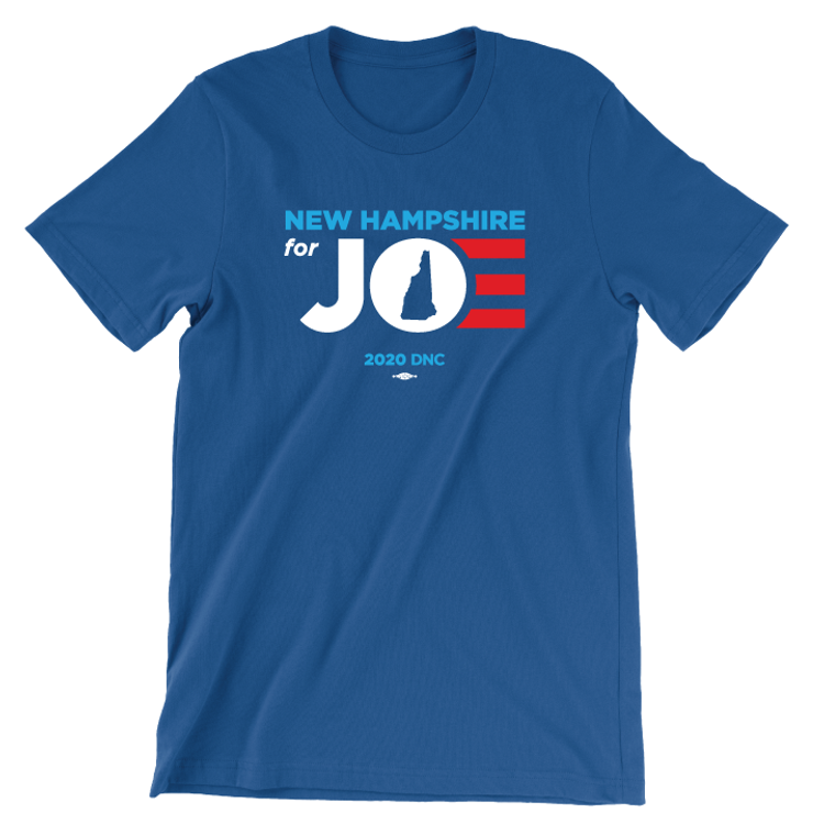 New Hampshire For Joe (Unisex Royal Blue Tee)