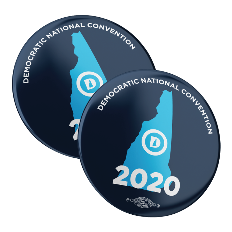 "DNC 2020 (2.25"" Pin-Back Button -- Pack Of Two!)"
