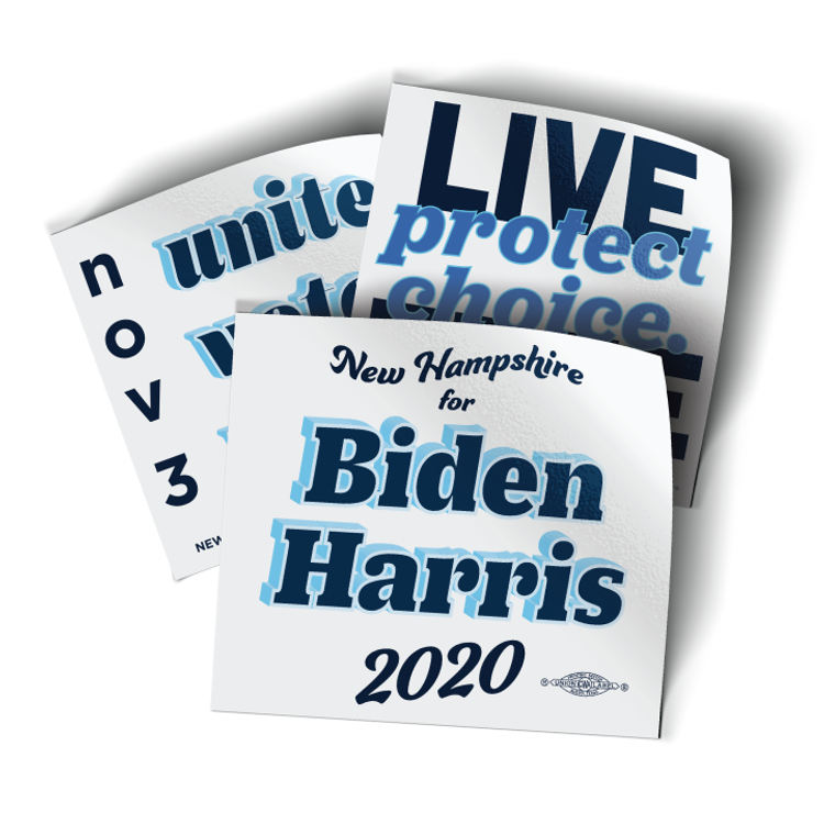 "Vote Biden 2020 (4"" x 4"" Vinyl Sticker -- Pack of Three!)"