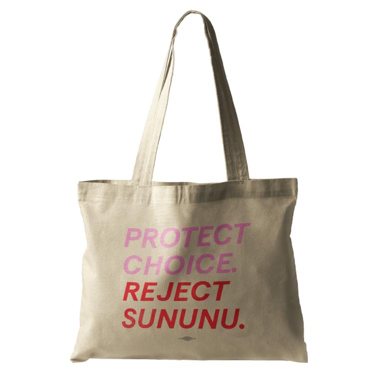 Protect Choice. Reject Sununu. (Natural Canvas Tote)