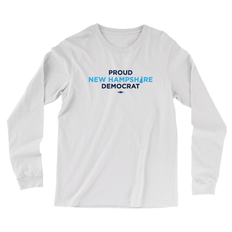 Proud NH Democrat (White Long-Sleeve Tee)