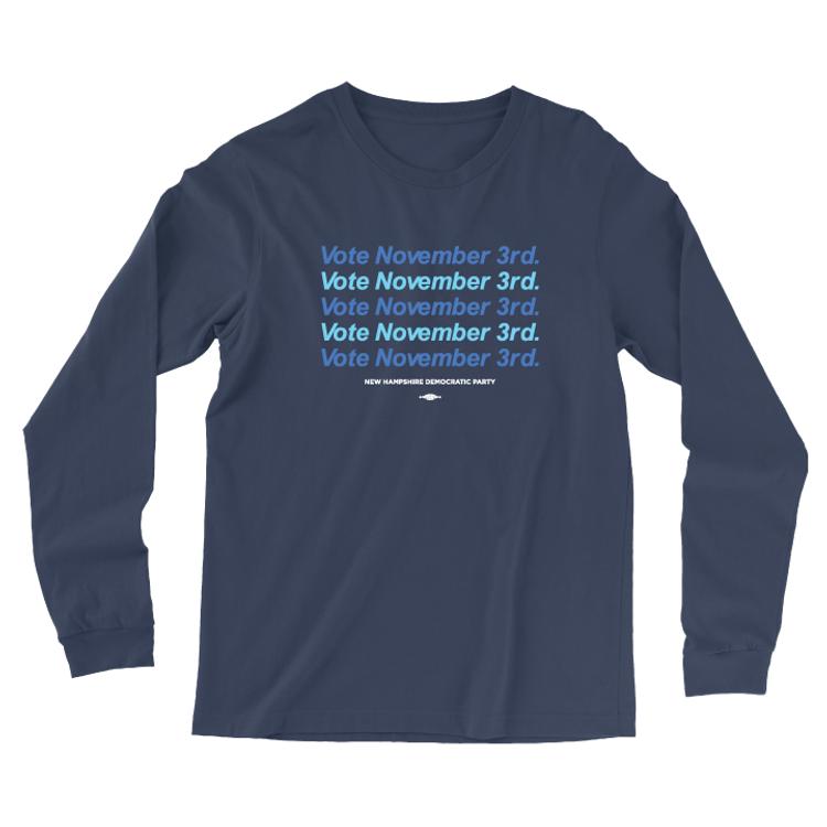Vote Nov 3 - Repeat (Navy Long-Sleeve Tee)