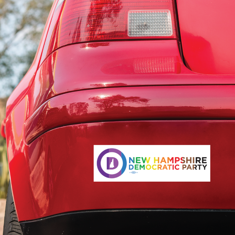 """New Hampshire Dems - Extended Pride (10"""" x 3"""" Bumper Magnet)"""