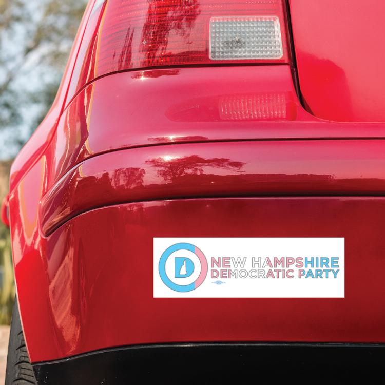 """New Hampshire Dems - Trans Pride (10"""" x 3"""" Bumper Magnet)"""