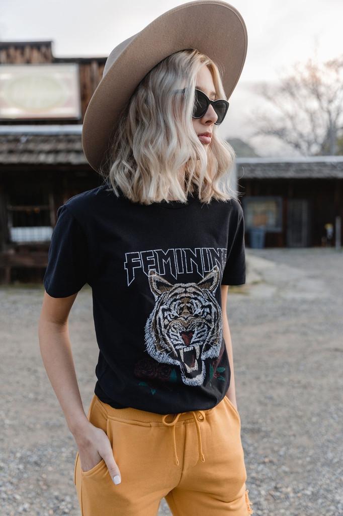 Feminine Tiger Tee