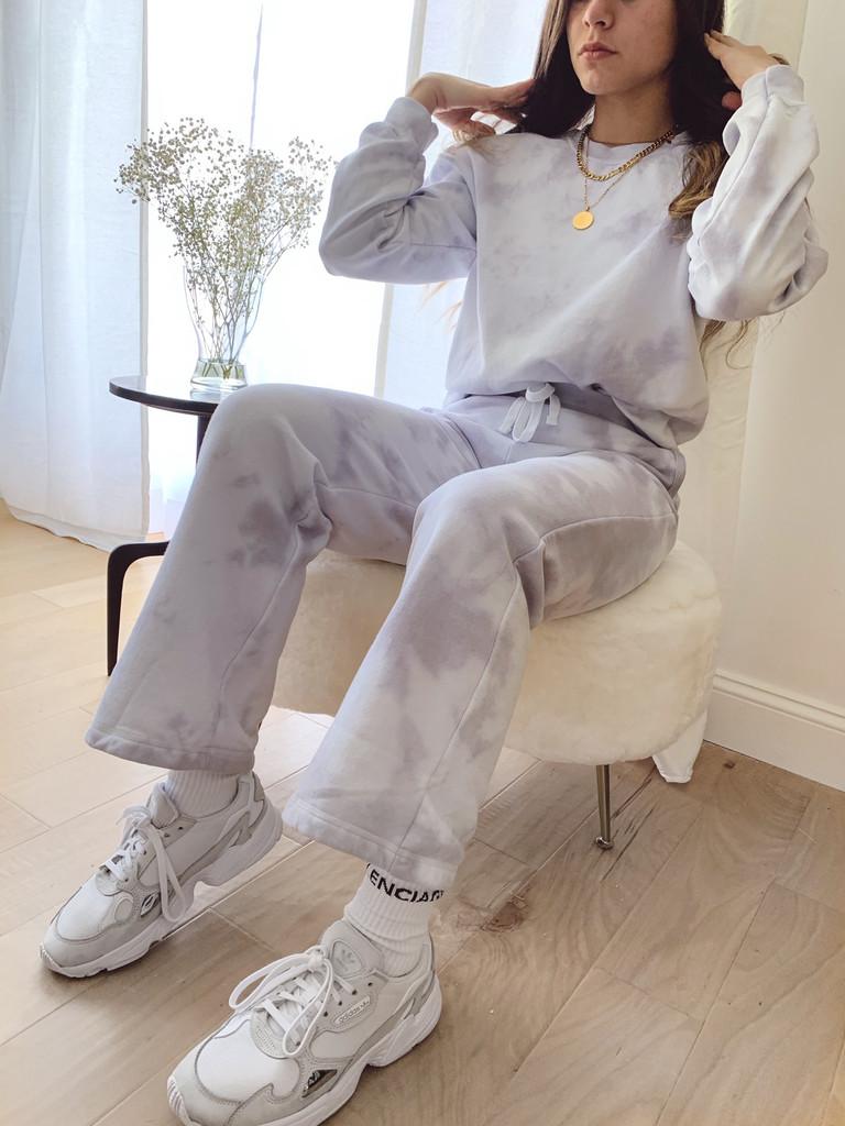 Flare-Leg  Tie Dye Joggers