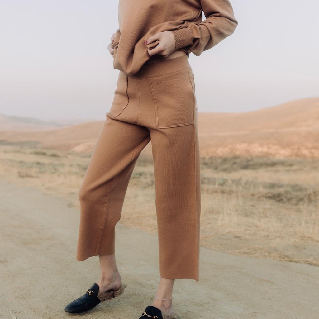 Emm Camel Wide Leg Lounger