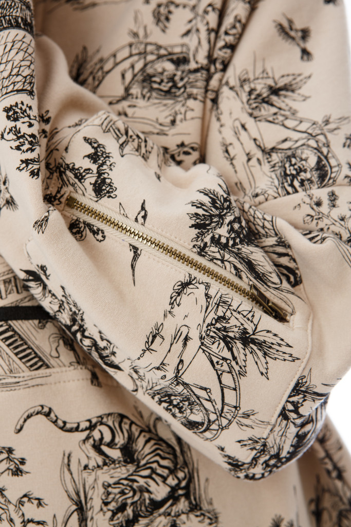 J'ADORE L'amour Pattern  Half Zip- Restocking Soon! Signup to be notified.