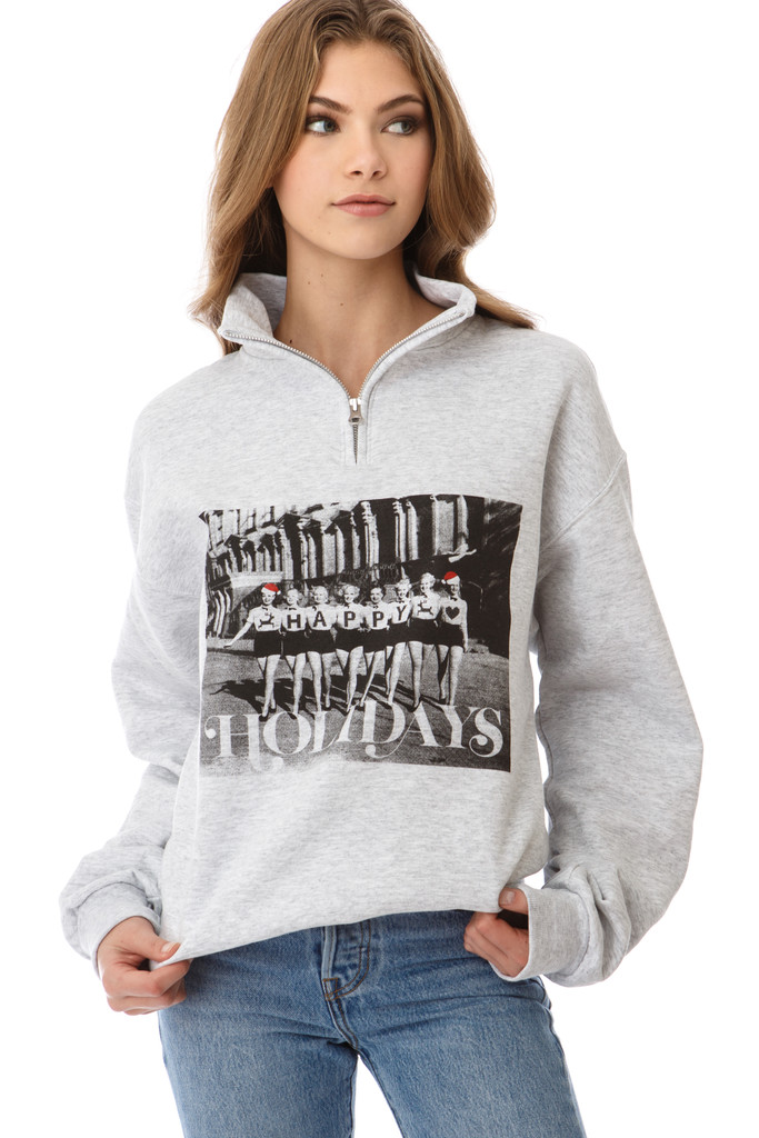 Vintage Happy Holiday  Sweatshirt