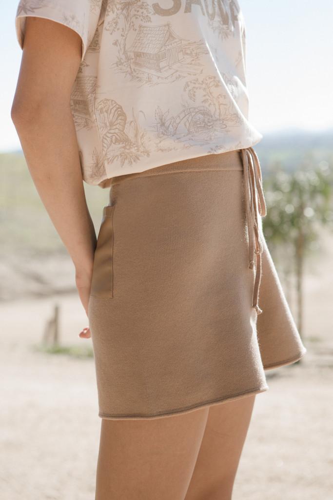Tan Knit Short